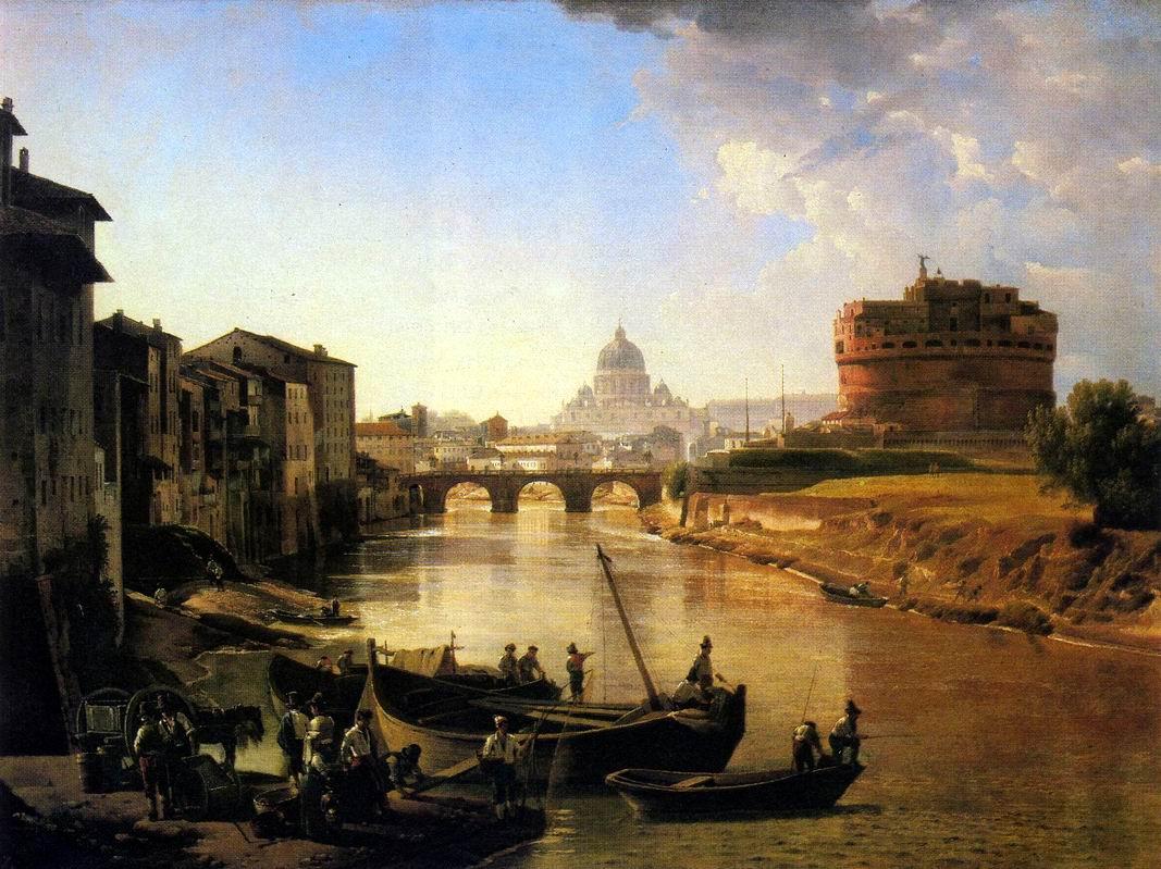 Вид на замок Святого Ангела на картине Сильвестра Щедрина
