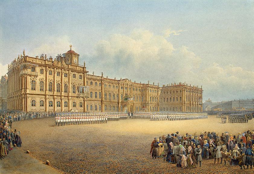 Вид Зимнего дворца со стороны Адмиралтейства.