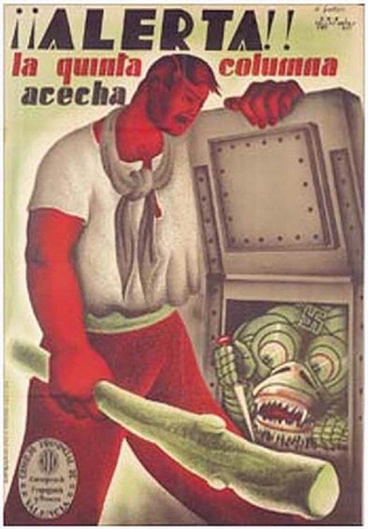 Республиканский плакат о борьбе с«пятой колонной».
