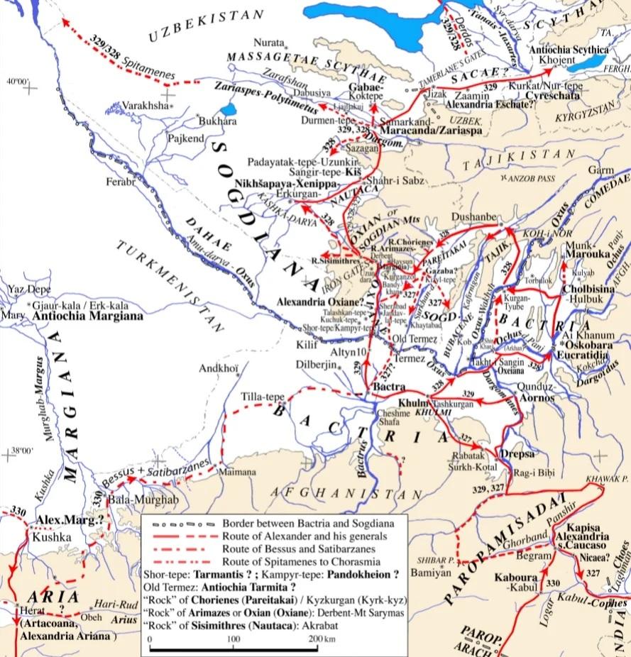 Походы Александра в Средней Азии.