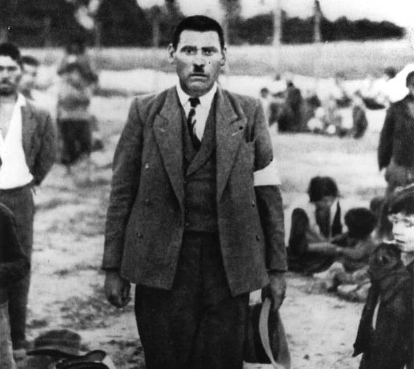 Мужчина-рома в оккупированной Польше, 1940.