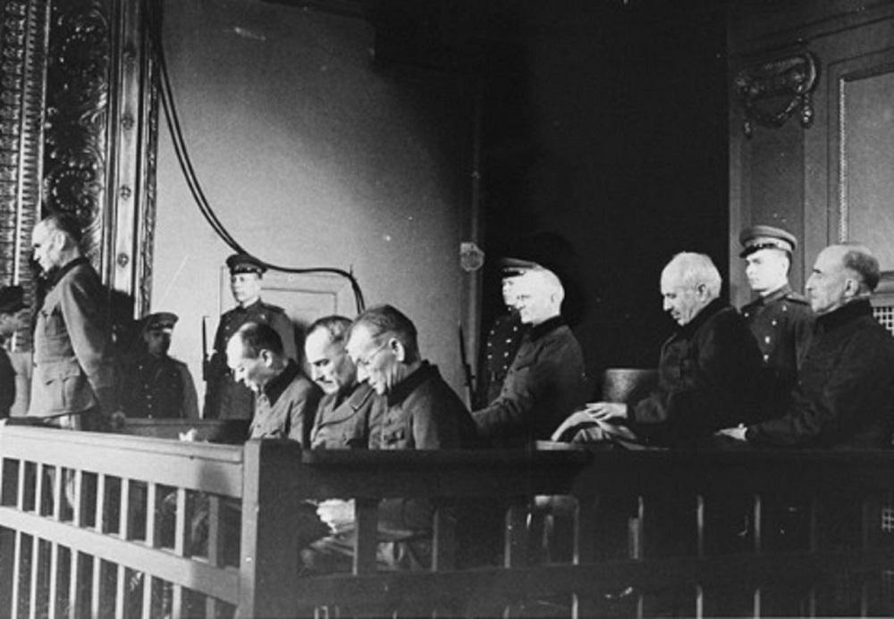 Подсудимые на Рижском процессе 1946г.