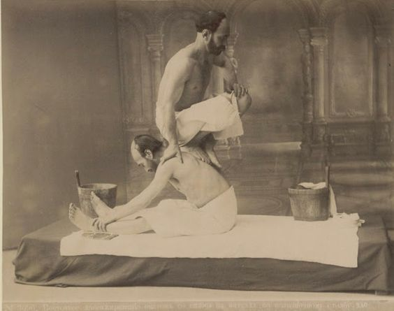 Massage in Tbilisi Caucasus region of Eurasia sometime around 1880..jpg