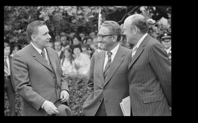 Андрей Громыко и Генри Киссинджер вВашингтоне, 1973.