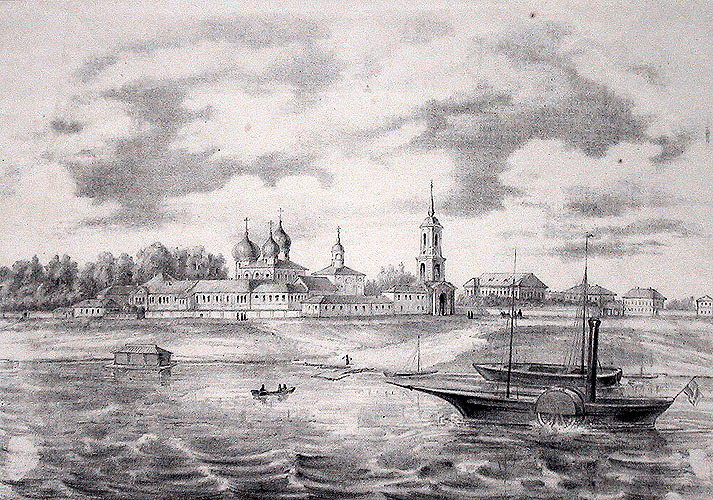 Антониев монастырь на гравюре 1860 года.