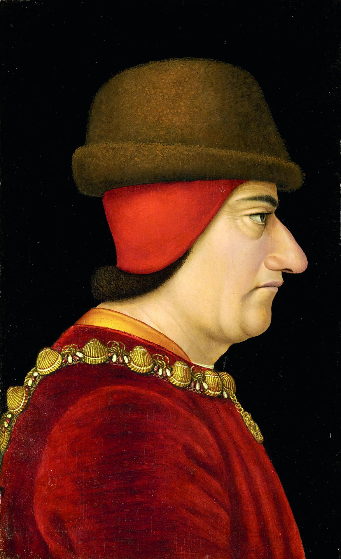 Людовик XI неотличался красотой иатлетической статью.