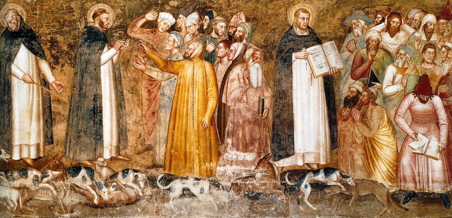 Андреа Бонайути. Триумф Церкви, фрагмент, 14-й в.