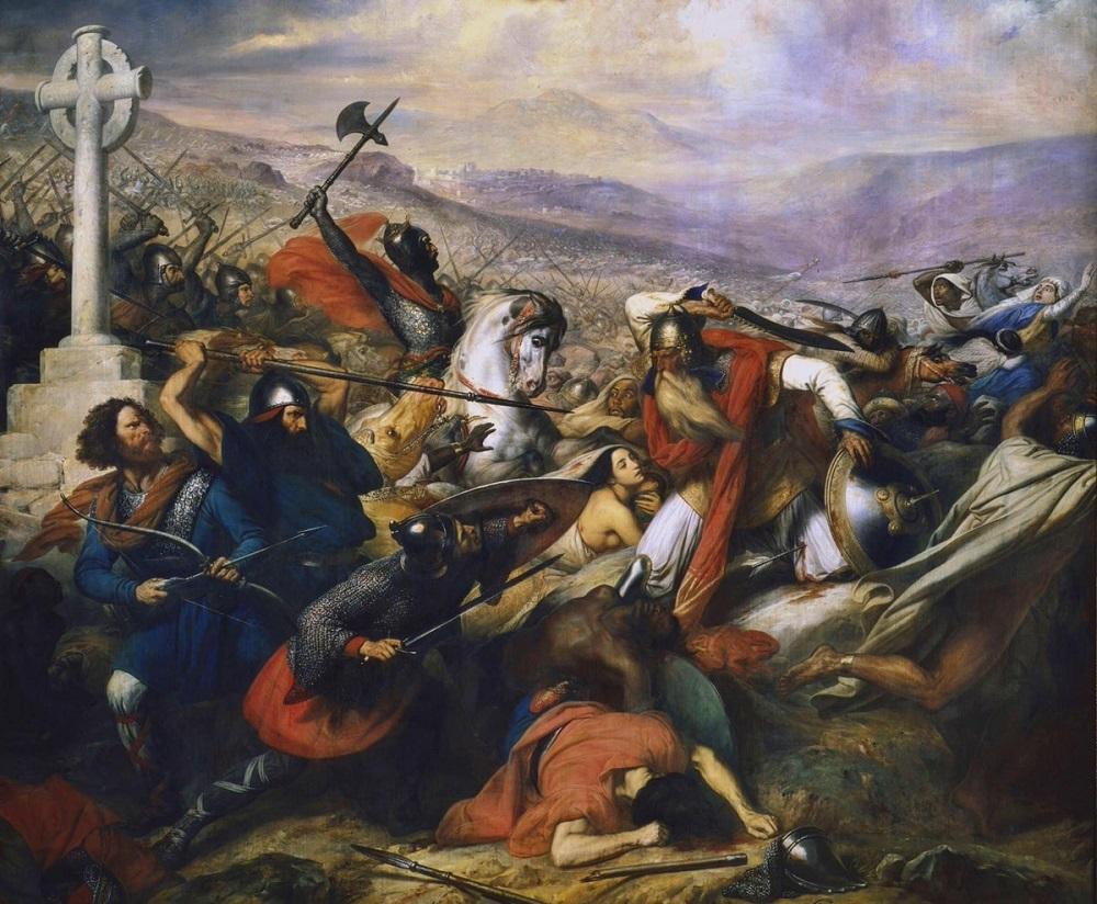 Битва при Пуатье. Картина Карла Штейбена.