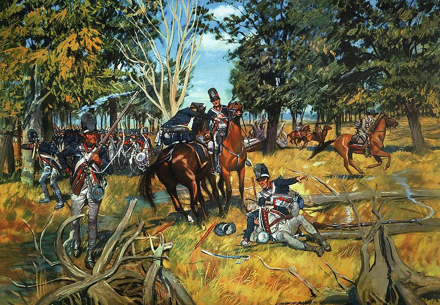 Проигранная индейцами битва при Фоллен Тимберс, 1794 г.