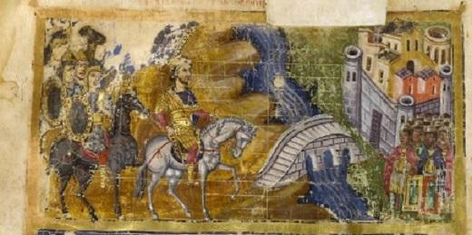 Юлиан под стенами Ктесифона, миниатюра IX века. <br>