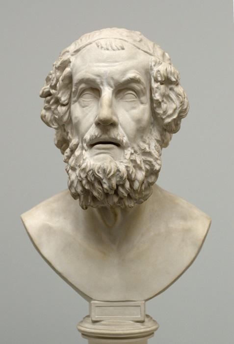 Бюст Гомера в Музее классической скульптуры, Германия.