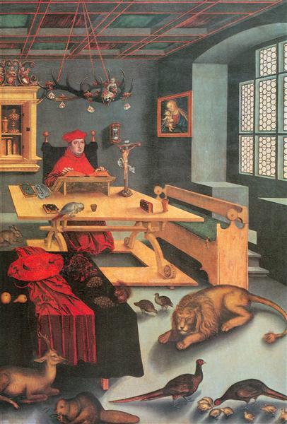 17 Альбрехт Бранденбургскии Как Св. Иероним В Келье 1526.jpg