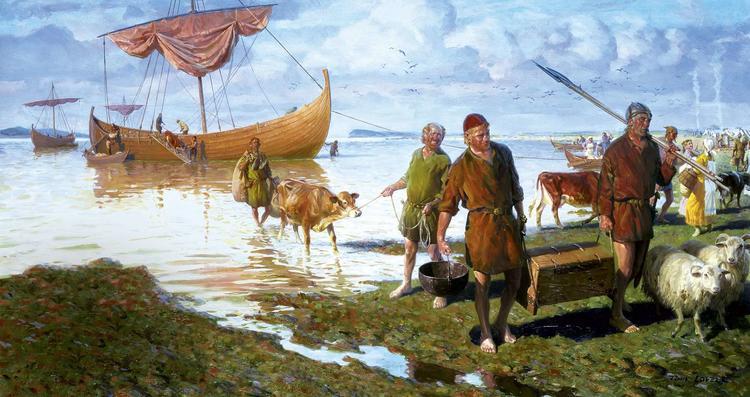 Прибытие викингов в Новый Свет.  Источник: knowhistory.ru