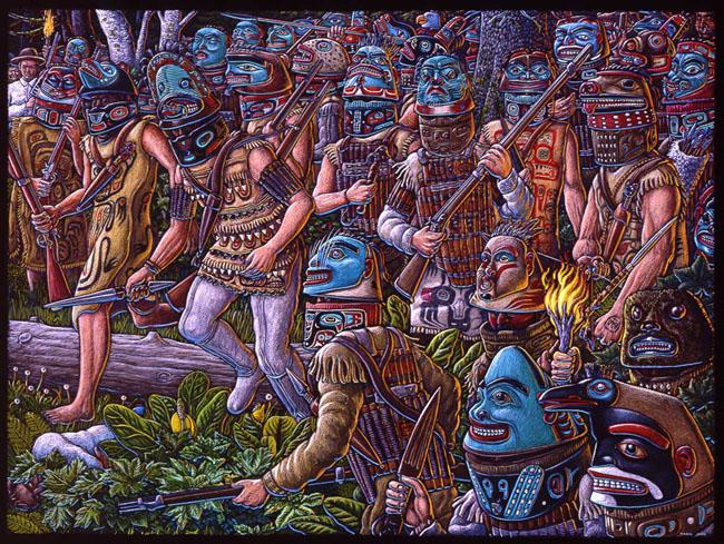 Индейцы в бою. <br>