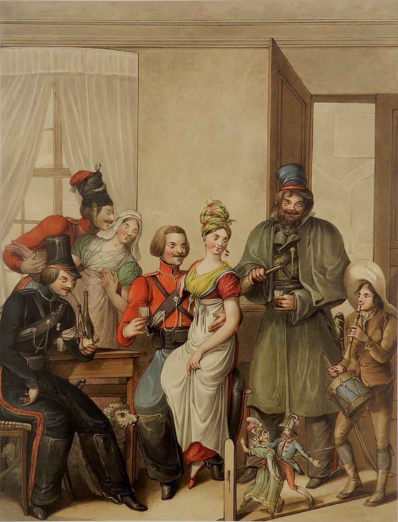 Русские казаки произвели настоящий фурор во Франции.