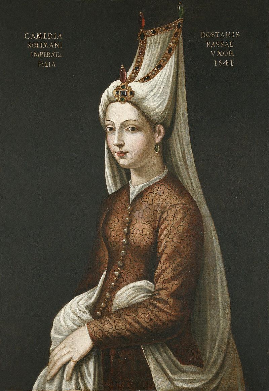 Portrait by Cristofano dell'Altissimo titled Cameria Solimani, 16th century.jpg