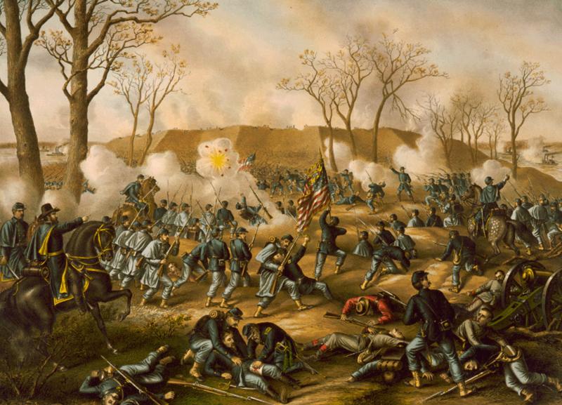 Битва при Форт-Донельсон. <br>