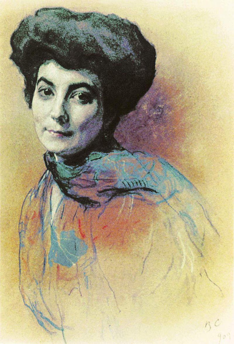 Валентин Серов. Портрет Е. И. Рерих. 1909.jpg