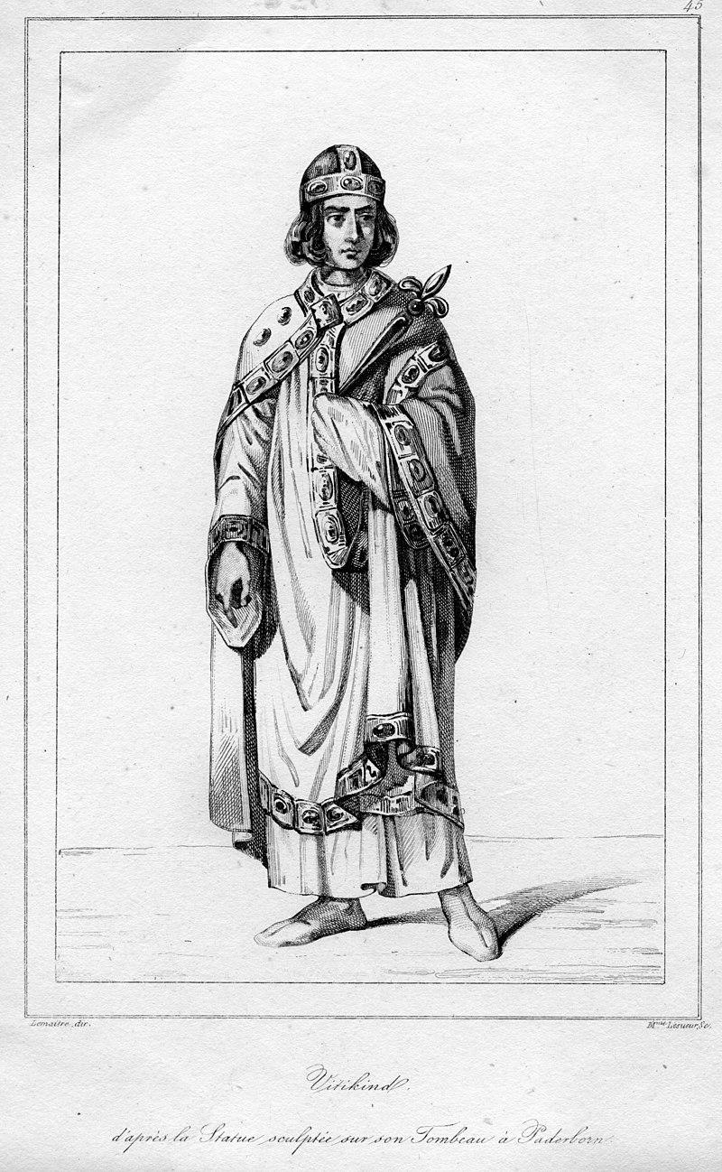 Саксонский вождь Видукинд. <br>
