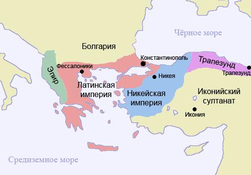 Карта Восточной Европы и Ближнего Востока после похода.