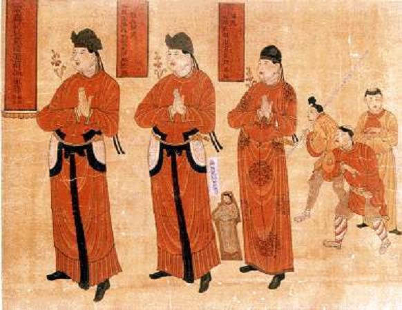 Тангуты. Древнекитайская гравюра. <br>