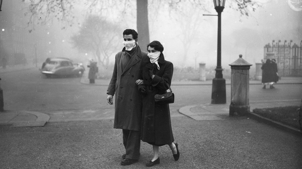 Великий смог в Лондоне, 1952 год.