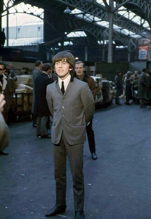 George Harrison during filming of A Hard Days Night.jpg