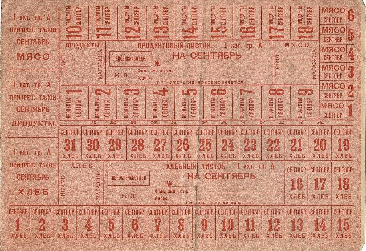 Хлебные карточки, 1933 г.  <br>