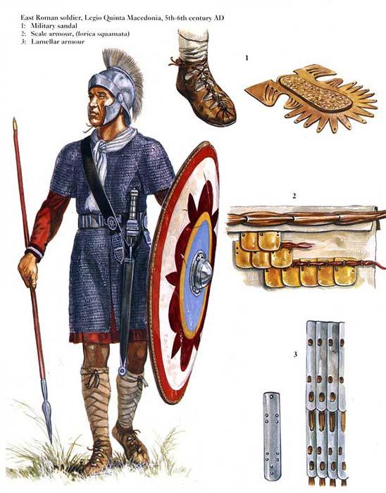 Римский пехотинец. V век.