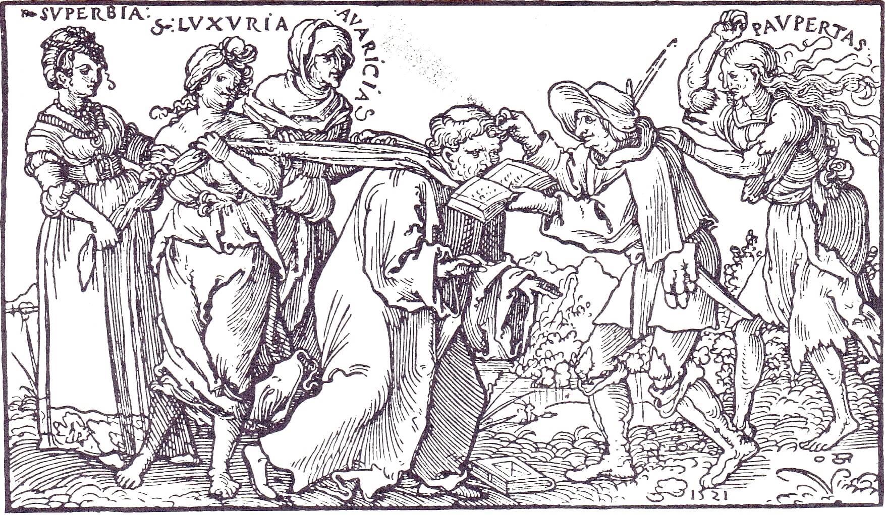 Ганс Себальд Бехам. Аллегория монашества, 1521.