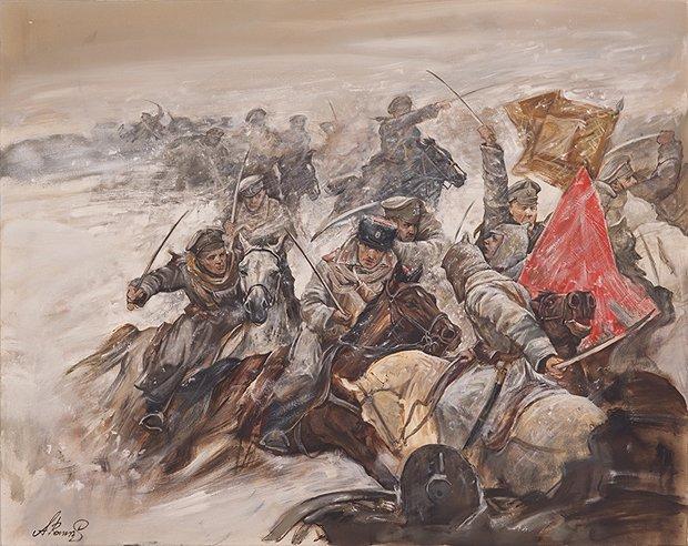 Бой белых и красных. <br>