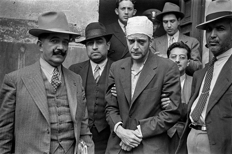 Рамон Меркадер после задержания.
