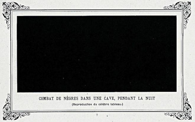 «Битва негров в пещере глубокой ночью», 1882.