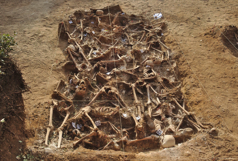 Могила жертв франкистов, найденная в апреле 2014 года.