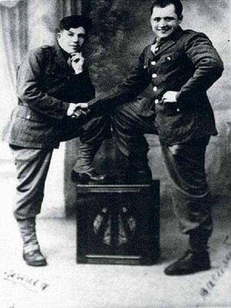 Порик с бойцом французского Сопротивления.