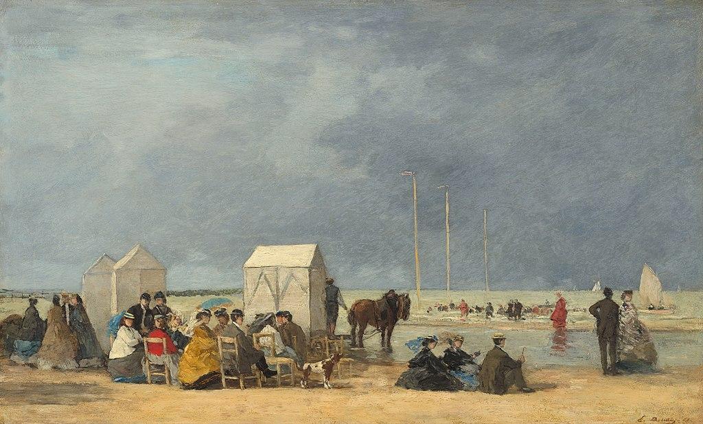Пляж в Довиле.