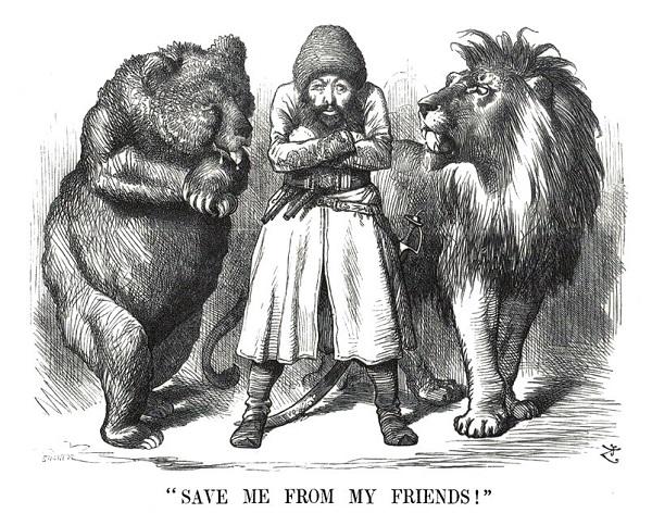 Карикатура из британской прессы.
