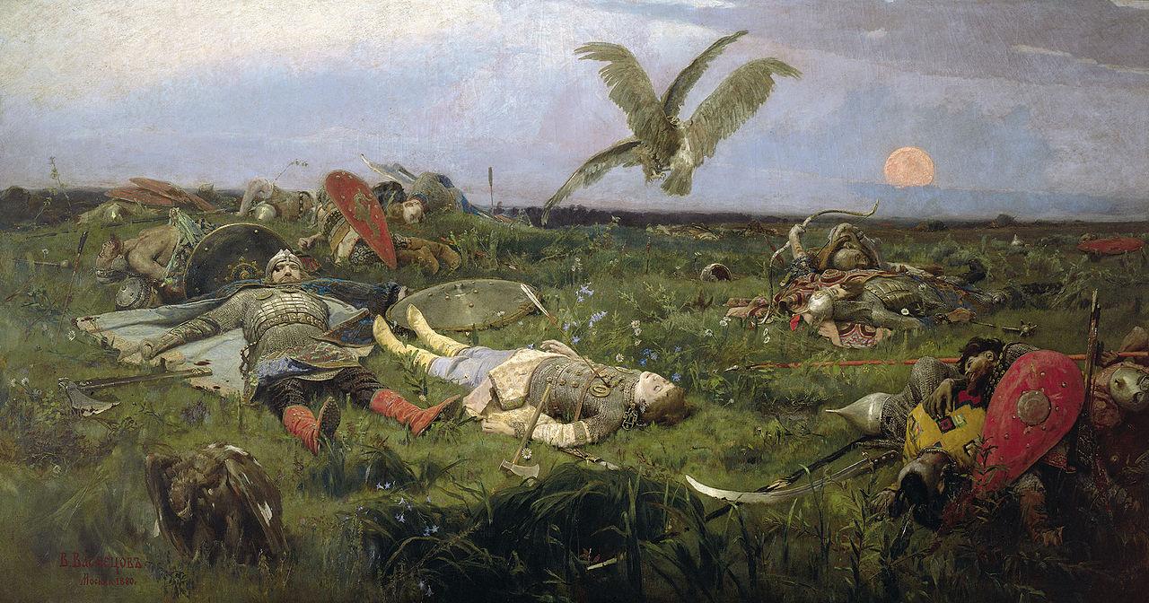 «После побоища Игоря Святославича с половцами», В. М. Васнецов, 1880 год.jpg