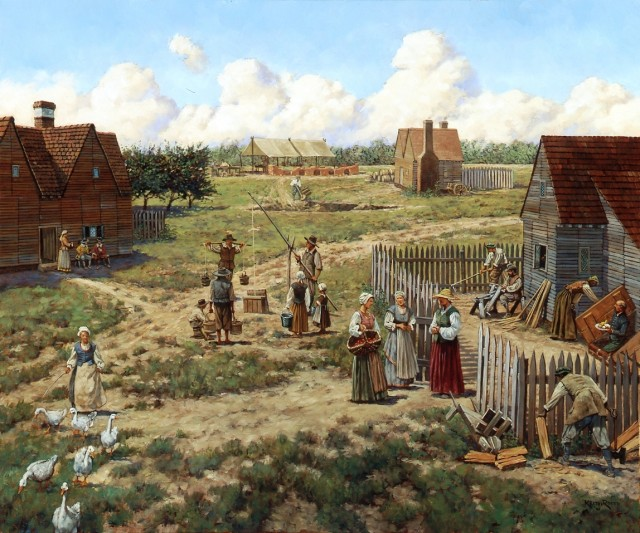 a history of the english settlement in the colonies of jamestown and plymouth in america
