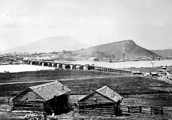 Город Чаттануга в 19 веке. <br>