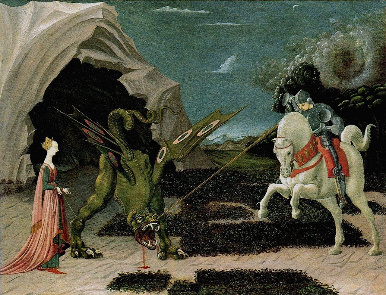 Паоло Уччелло «Битва Св. Георгия со змием».