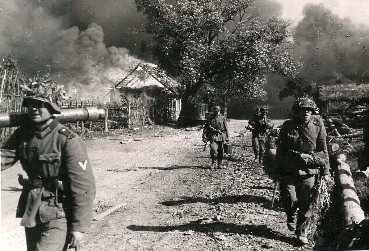 После сожжения деревни. <br>