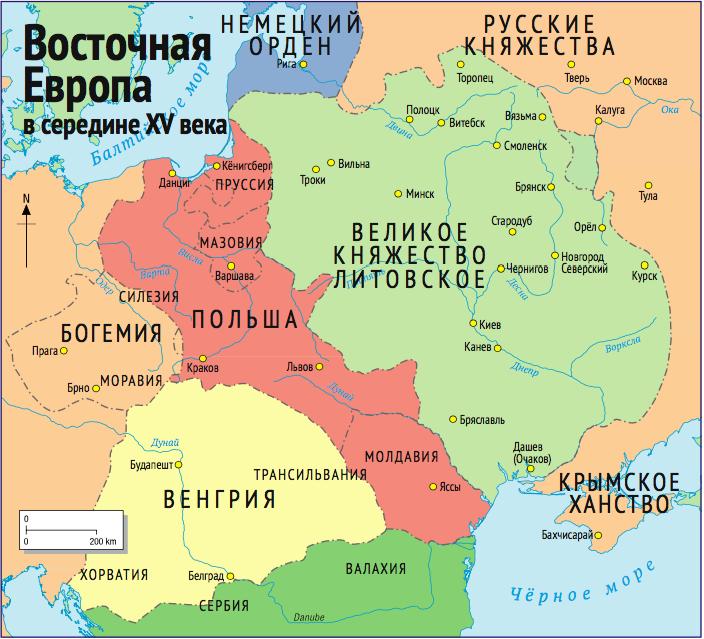 Восточная Европа в серединеXV в.
