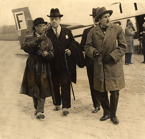 Igor Stravinsky far left and Serge Diaghilev (with cane) in the early.jpg