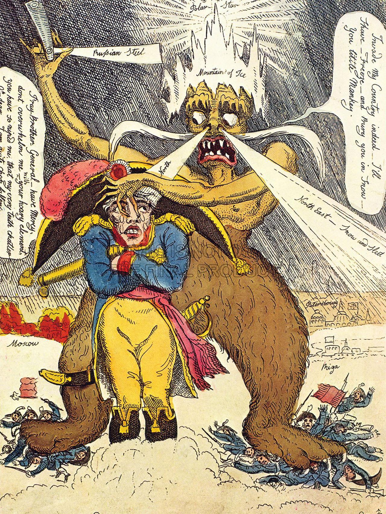 Уильям Эльмс «Генерал Мороз бреет маленького Бони».