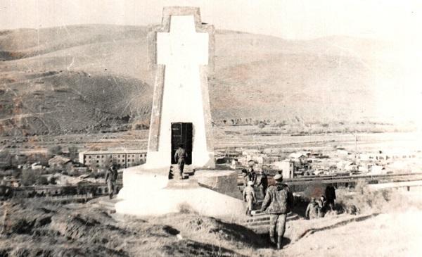 Монумент в Кушке— наюжной границе СССР.