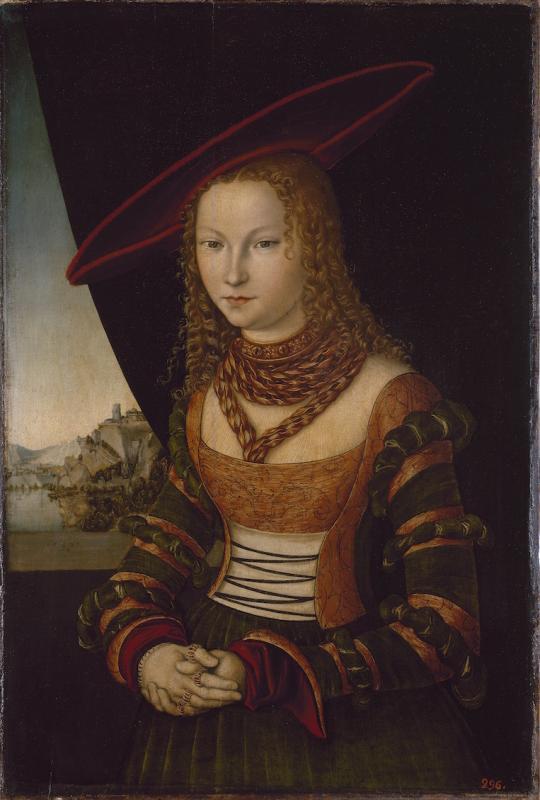 5 Лукас Кранах Старшии. Женскии портрет 1526 г.jpg