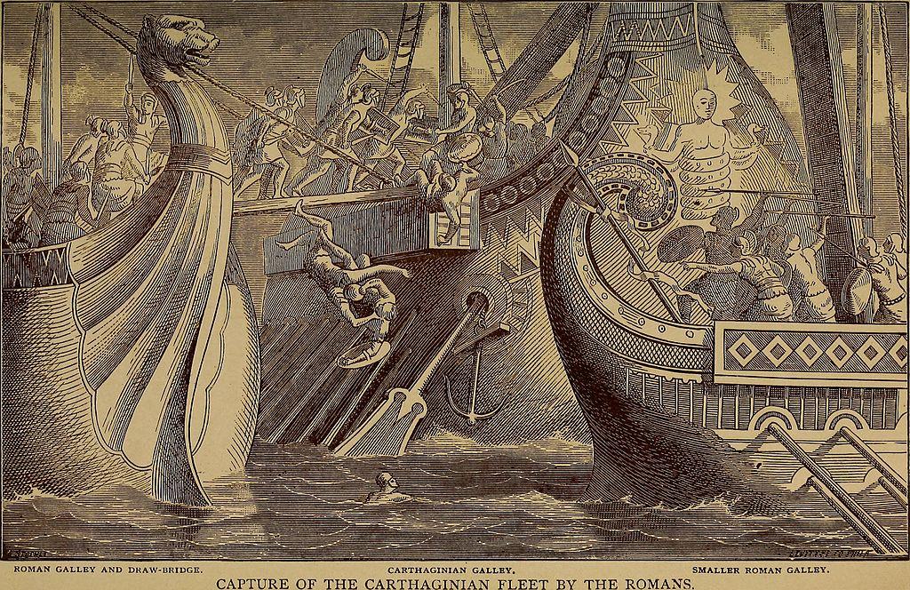 3 Сражение между римлянами и карфагенянами в представлении художника XIX века.jpg