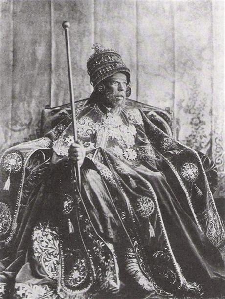 Негус Менелик II. Фотография конца XIX века.