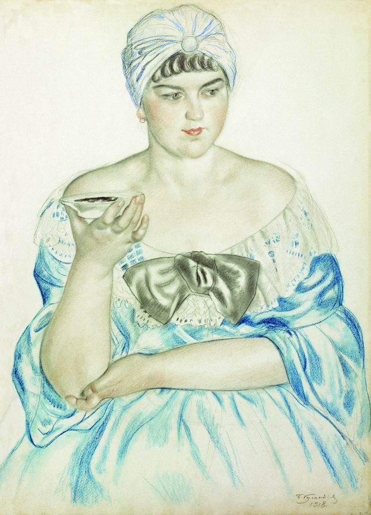 фото 5 Женщина пьющая чаи. Зарисовка с Адеркас.jpg